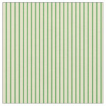 [ Thumbnail: Forest Green and Pale Goldenrod Colored Pattern Fabric ]
