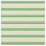 [ Thumbnail: Forest Green and Pale Goldenrod Stripes Fabric ]