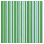 [ Thumbnail: Forest Green and Powder Blue Pattern Fabric ]