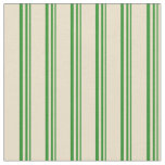 [ Thumbnail: Forest Green and Tan Colored Pattern Fabric ]