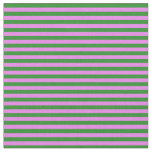[ Thumbnail: Forest Green and Violet Colored Lined Pattern Fabric ]