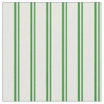 [ Thumbnail: Forest Green and White Colored Striped Pattern Fabric ]