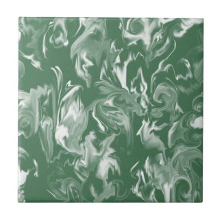 Forest green and white -T- Tile