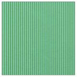 [ Thumbnail: Forest Green & Aquamarine Stripes Pattern Fabric ]