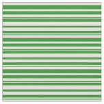 [ Thumbnail: Forest Green & Beige Colored Lined Pattern Fabric ]