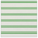 [ Thumbnail: Forest Green & Beige Colored Lines Fabric ]