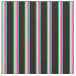 [ Thumbnail: Forest Green, Beige, Hot Pink, Slate Gray & Black Fabric ]