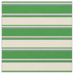 [ Thumbnail: Forest Green, Beige & Light Slate Gray Lines Fabric ]