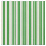 [ Thumbnail: Forest Green & Beige Lines/Stripes Pattern Fabric ]