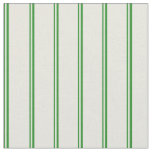 [ Thumbnail: Forest Green & Beige Pattern of Stripes Fabric ]