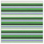 [ Thumbnail: Forest Green, Beige, Slate Blue, Green & Black Fabric ]