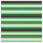 [ Thumbnail: Forest Green, Black, Green, Aquamarine, and White Fabric ]