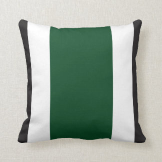 Forest Green, Black & White Throw Pillow