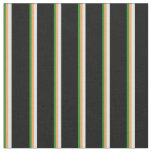 [ Thumbnail: Forest Green, Brown, Light Cyan, and Black Lines Fabric ]