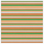 [ Thumbnail: Forest Green, Brown, Light Grey, and Chocolate Fabric ]
