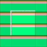 [ Thumbnail: Forest Green, Brown, Pink & Green Pattern Fabric ]