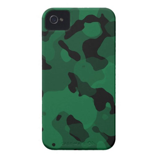 Forest Green Camo; Camouflage iPhone 4 Case