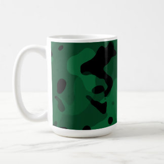 Forest Green Camo; Camouflage Classic White Coffee Mug