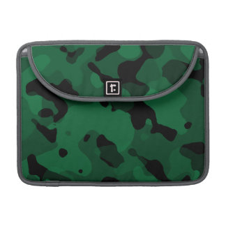 Forest Green Camo; Camouflage Sleeve For MacBook Pro