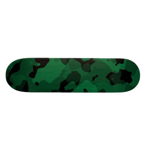 "Forest Green Camo; Camuflaje Patineta 7 3/4"""