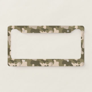 Forest Green Camouflage. Camo your License Plate Frame