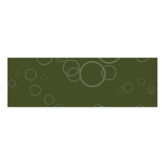 Forest Green Circle Bubbles Business Card Templates