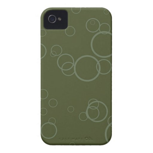 Forest Green Circle Bubbles iPhone 4 Cases