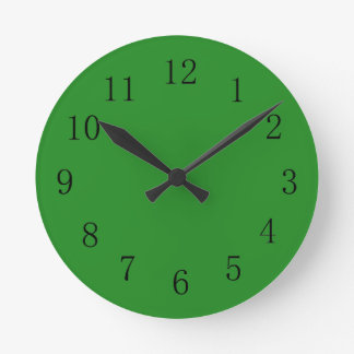 Forest Green Color Wall Clock