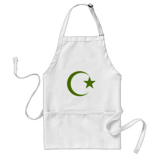 Forest Green Crescent & Star.png Apron