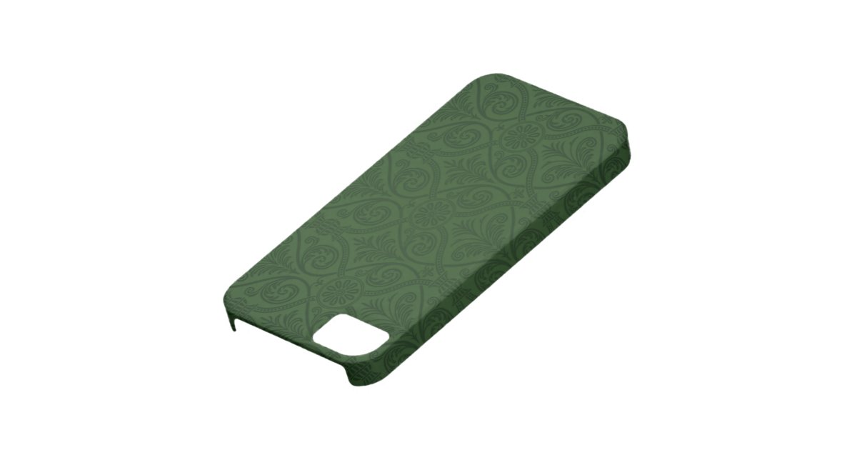 Case Design zazzle phone cases : Forest Green Damask iPhone 5 Case : Zazzle