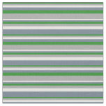 [ Thumbnail: Forest Green, Dark Gray, White, and Slate Gray Fabric ]