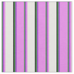 [ Thumbnail: Forest Green, Dark Orchid, Violet, White & Black Fabric ]