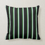 [ Thumbnail: Forest Green, Dark Sea Green, Light Cyan & Black Throw Pillow ]
