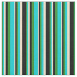 [ Thumbnail: Forest Green, Dark Turquoise, Tan, and Black Fabric ]