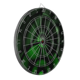 Forest Green Dartboard With Darts