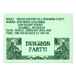 FOREST GREEN DRAGONS & DUNGEONS ~PARTY INVITATION! CARD
