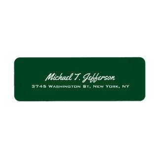 Forest Green Elegant Professional Modern Personal Label