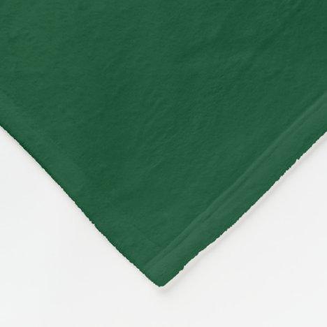 Forest Green Fleece Blanket