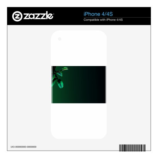 Forest green flower iPhone 4S decal