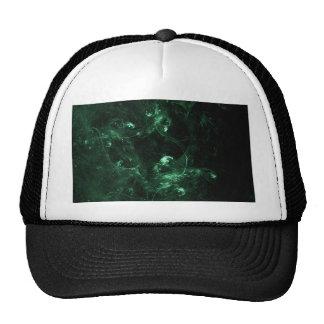 Forest green fractal trucker hat