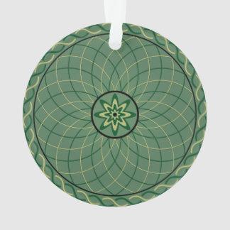 Forest Green Geometric Flower