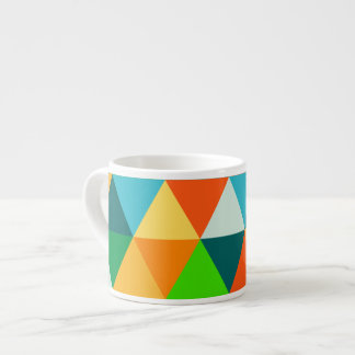 Forest Green geométrico/naranja/trullo de Taza Espresso