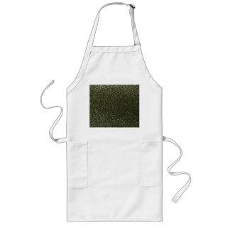 Forest green glitter apron