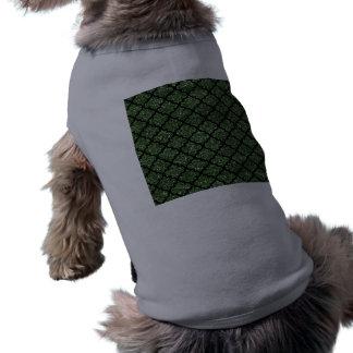 Forest green glitter moroccan doggie shirt