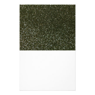 Forest green glitter stationery