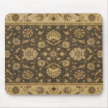 Forest green gold floral tapestry mouse pads