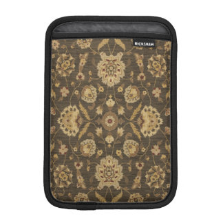Forest green gold floral tapestry sleeve for iPad mini
