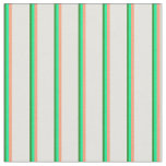 [ Thumbnail: Forest Green, Green, Light Salmon & Light Cyan Fabric ]