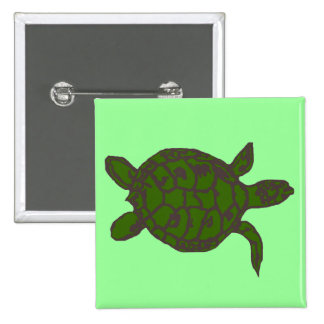 Forest Green Honu (sea turtle) button
