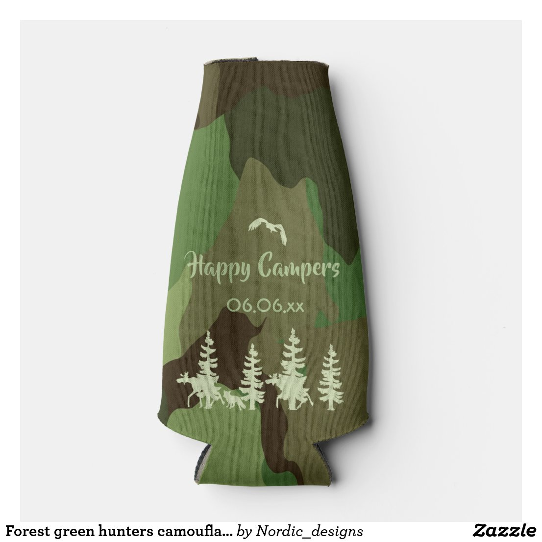 Forest green hunters camouflage and wildlife print